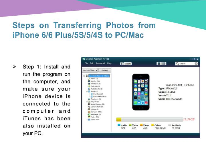 Steps on Transferring Photos from iPhone 6/6 Plus/5S/5/4S to PC/Mac