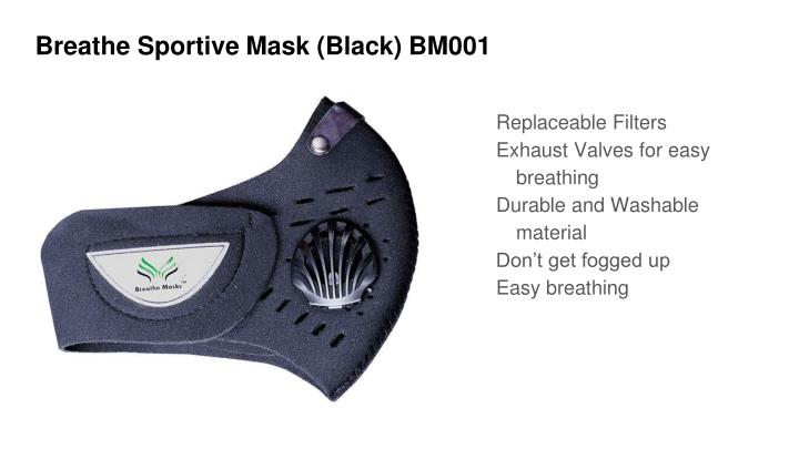 Breathe Sportive Mask (Black) BM001