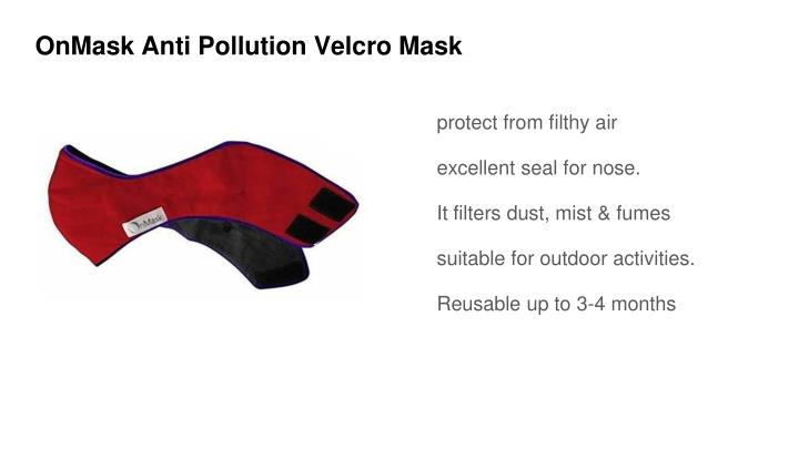OnMask Anti Pollution Velcro Mask