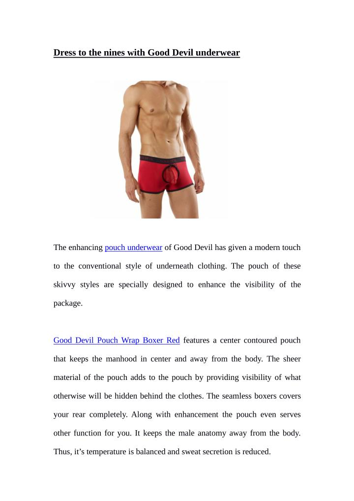 Dress to the nines with Good Devil underwear