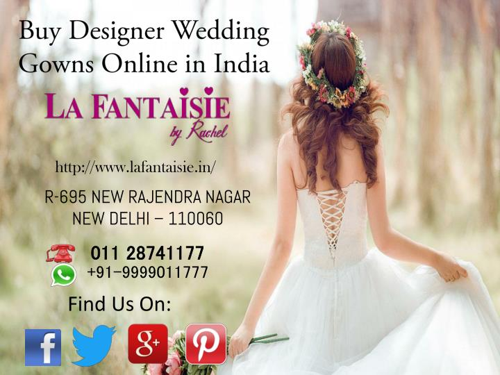 Buy Designer Wedding Gowns Online in India