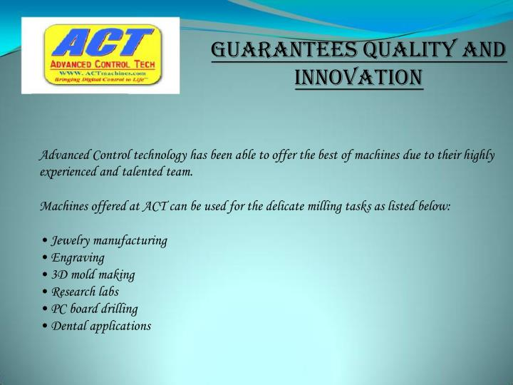 Guarantees Quality and