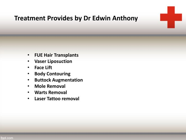 Treatment Provides by Dr Edwin Anthony