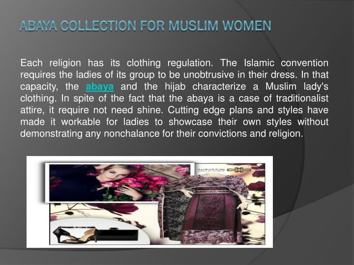 Abaya collection for muslim women
