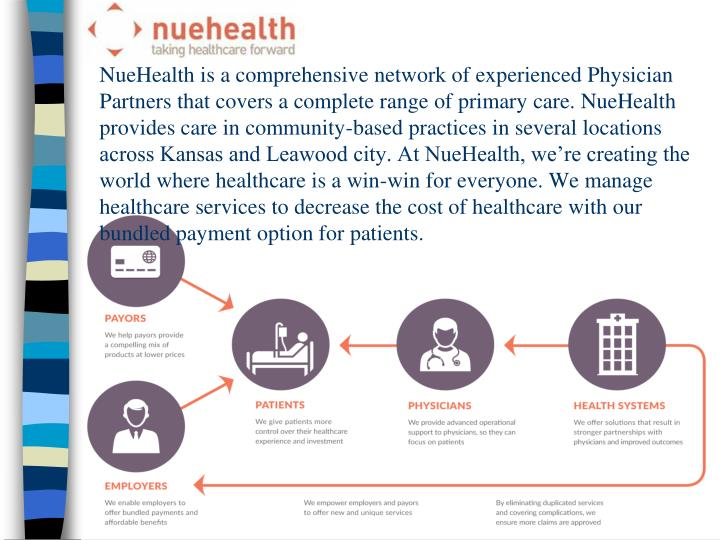 NueHealth is a comprehensive network of experienced Physician Partners that covers a complete range ...