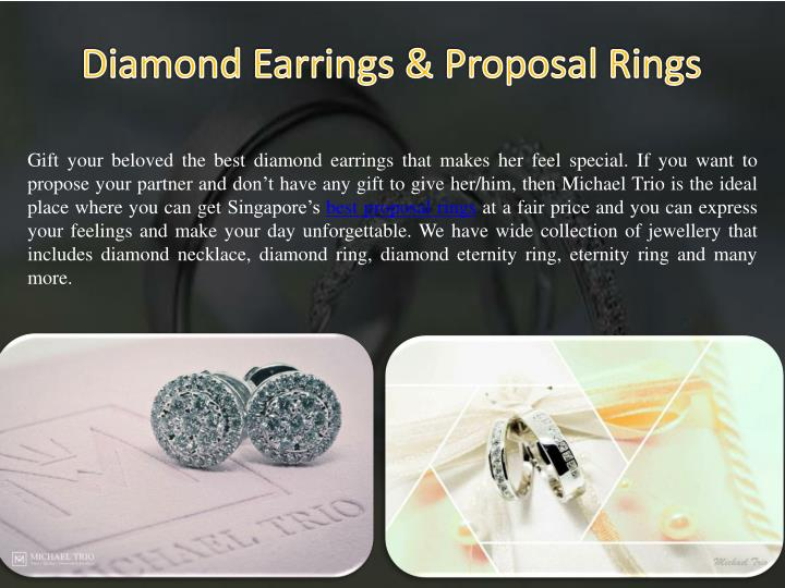 Gift your beloved the best diamond earrings that makes her feel special. If you want to