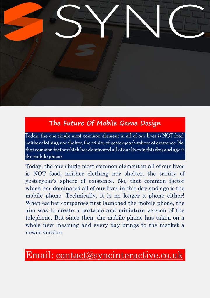 The Future Of Mobile Game Design