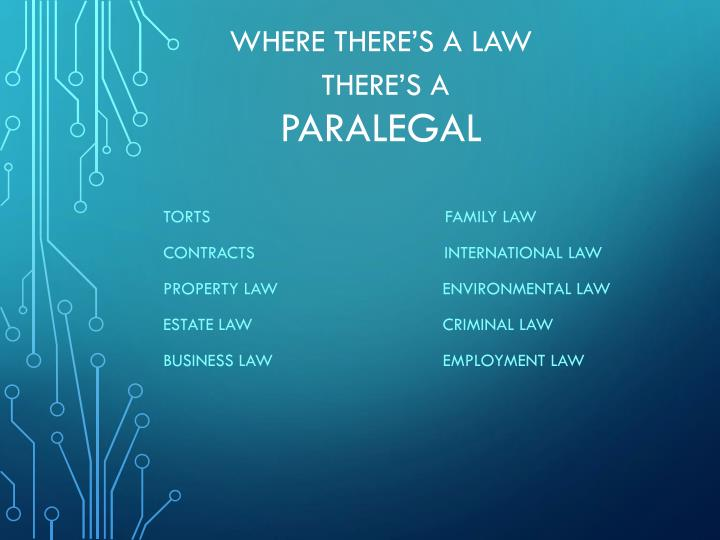 Where there s a law there s a paralegal