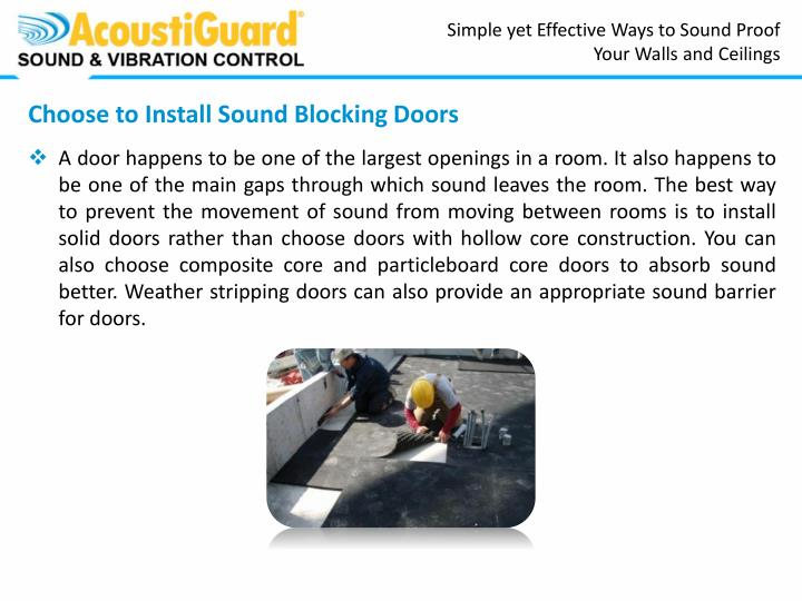 Simple yet Effective Ways to Sound Proof