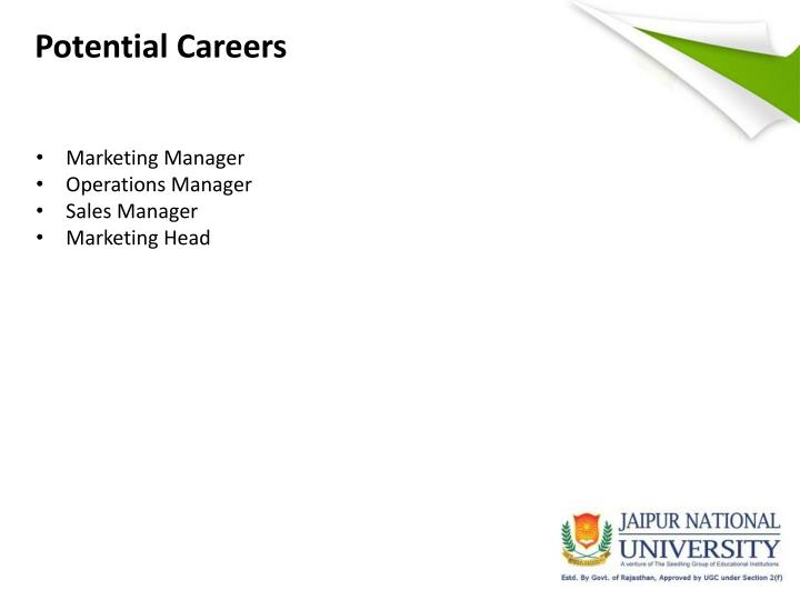 Potential Careers