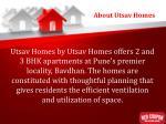 about utsav homes