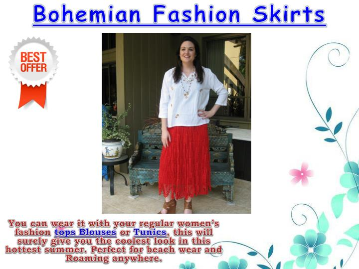 Bohemian Fashion Skirts