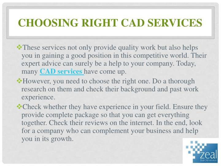 Choosing right CAD Services
