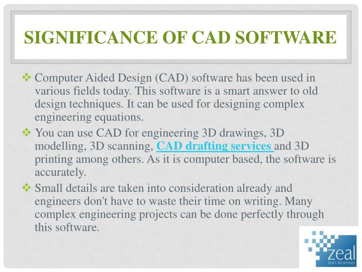 Significance of cad software
