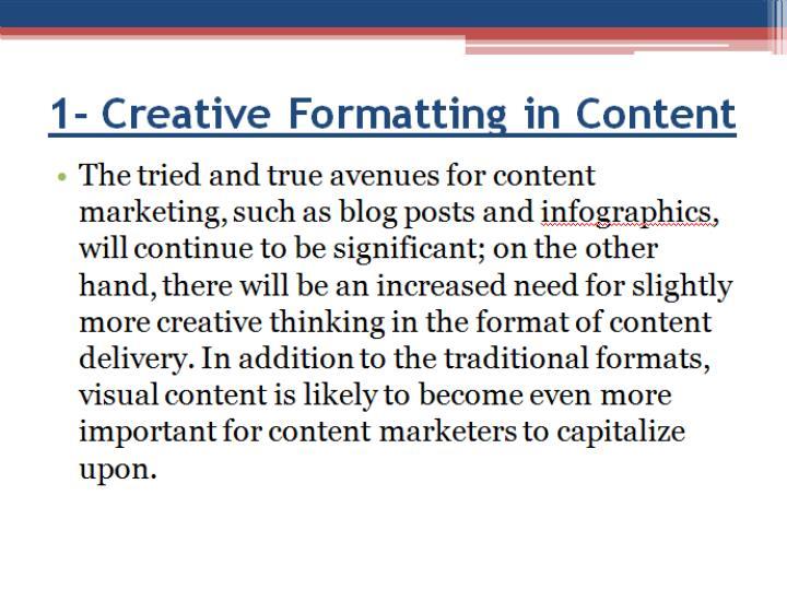 1- Creative