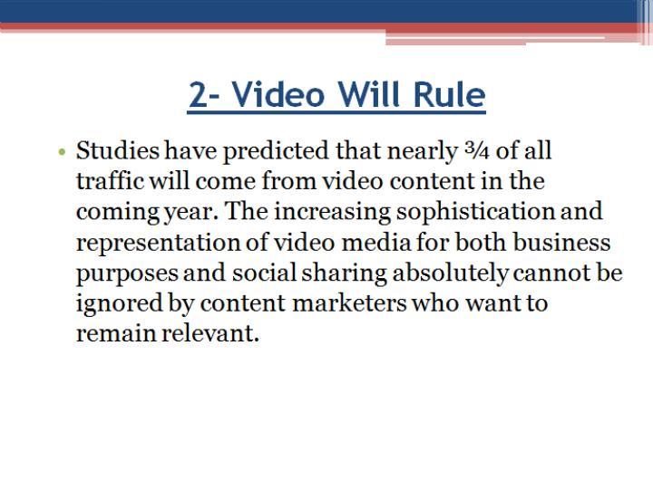 2- Video