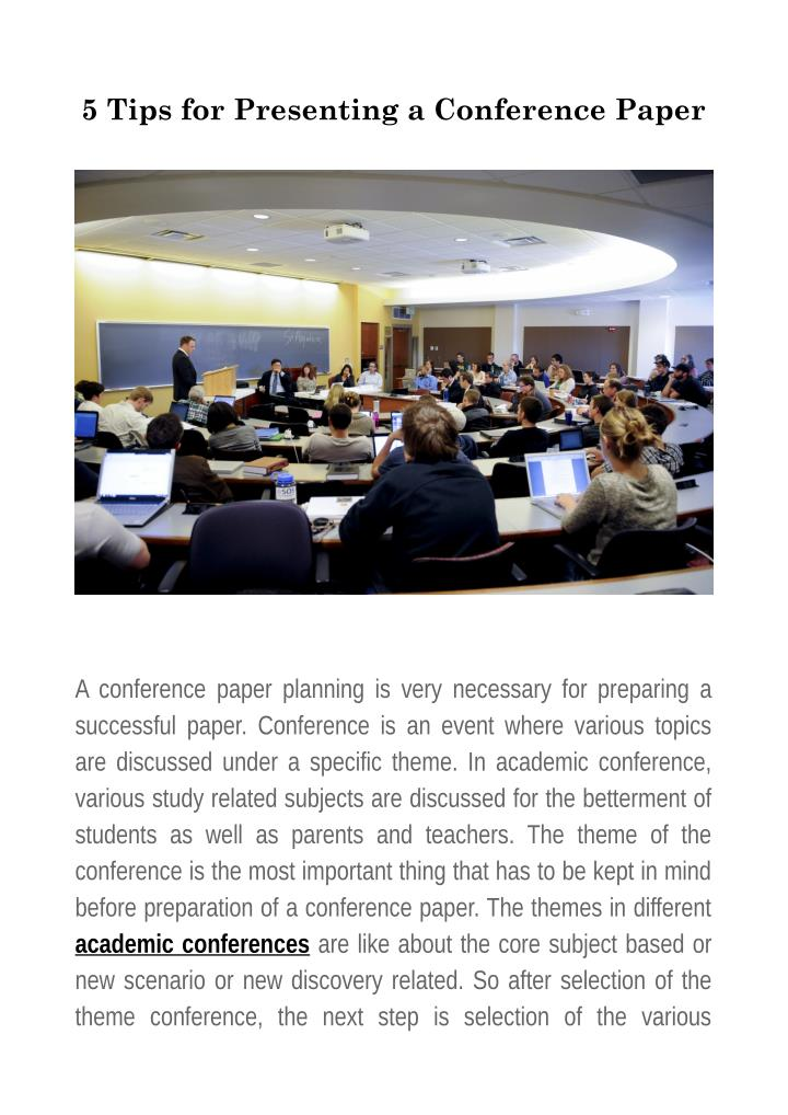 5 Tips for Presenting a Conference Paper
