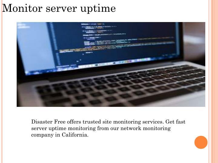 Monitor server uptime