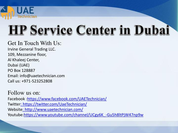 HP Service Center in Dubai