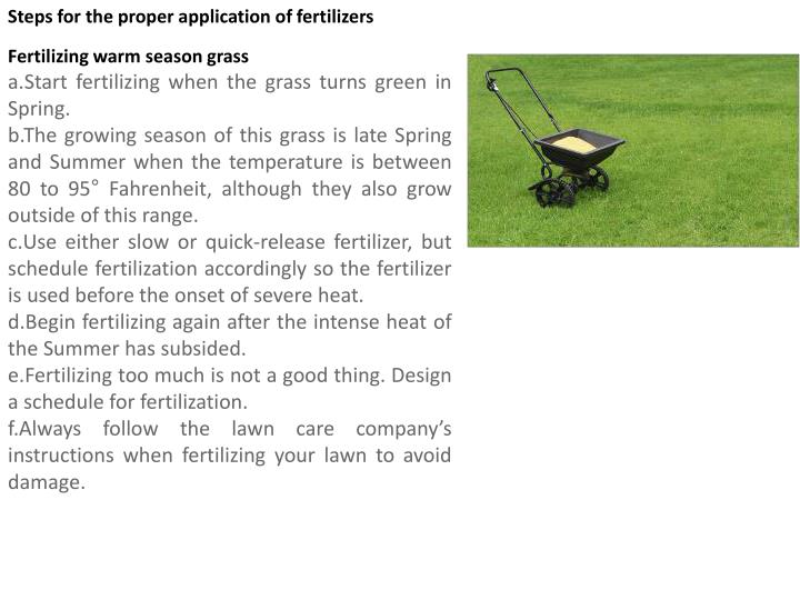 Steps for the proper application of fertilizers