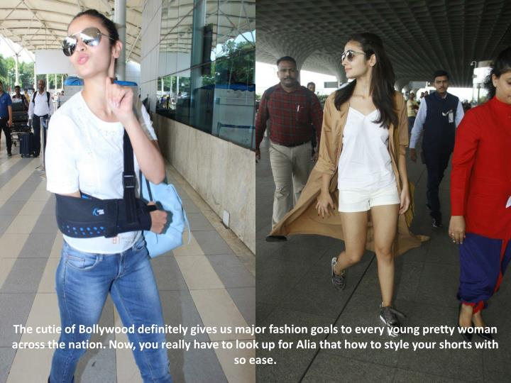 The cutie of Bollywood definitely gives us major fashion goals to every young pretty woman across the nation. Now, you really have to look up for Alia that how to style your shorts with so ease