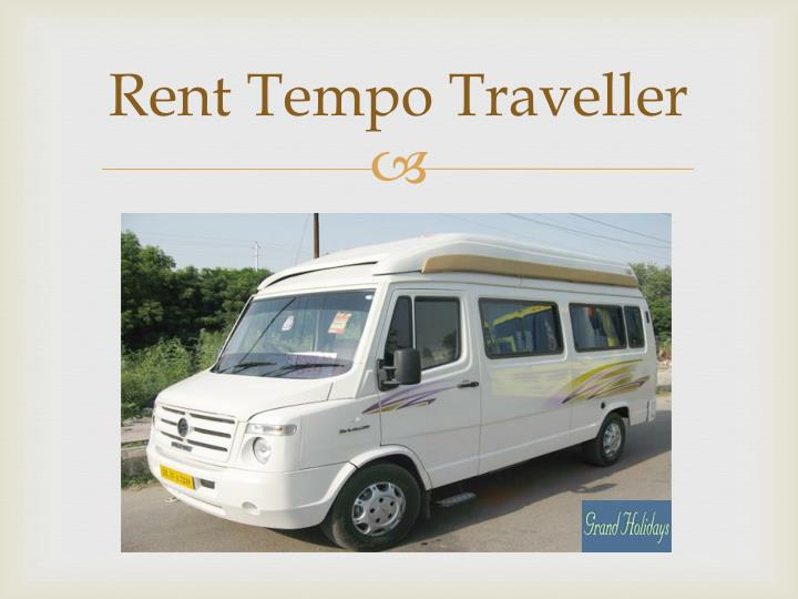 Rent Tempo Traveller