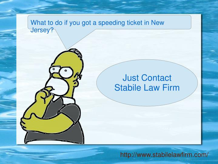 What to do if you got a speeding ticket in New Jersey?