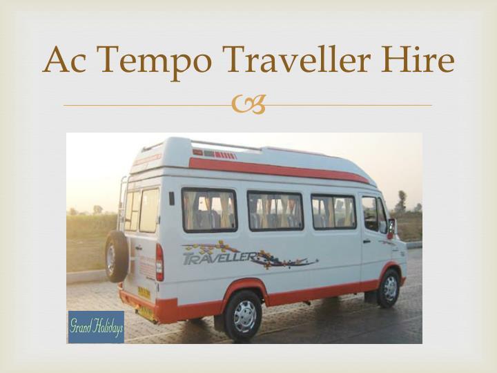 Ac Tempo Traveller Hire