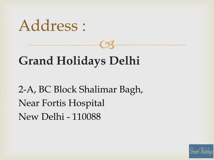 Address :