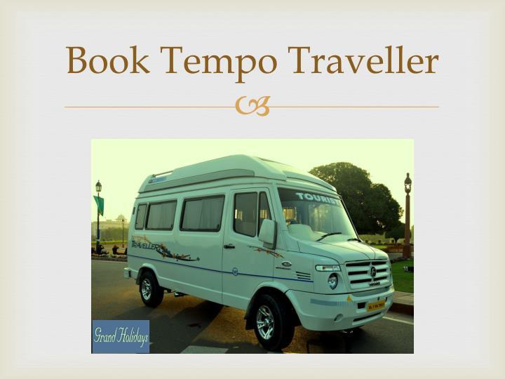 Book Tempo Traveller