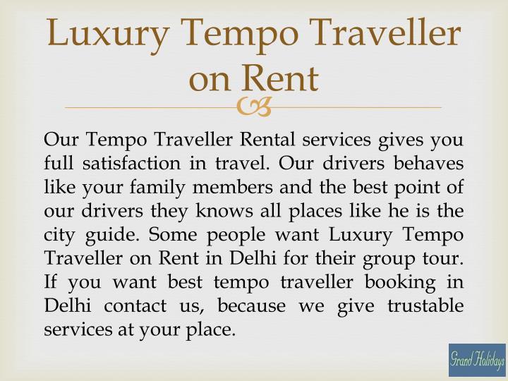 Luxury Tempo Traveller on Rent