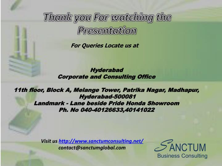 Thank you For watching the Presentation