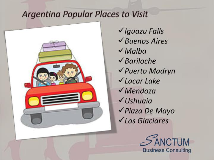 Argentina Popular Places to Visit