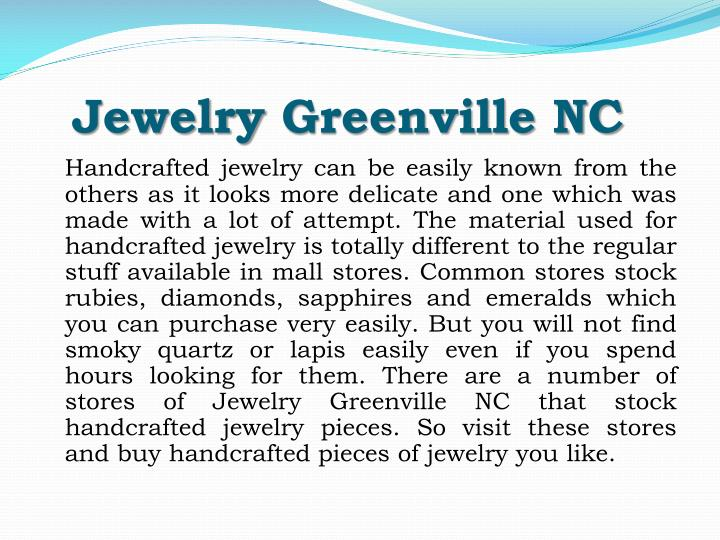 Jewelry greenville nc