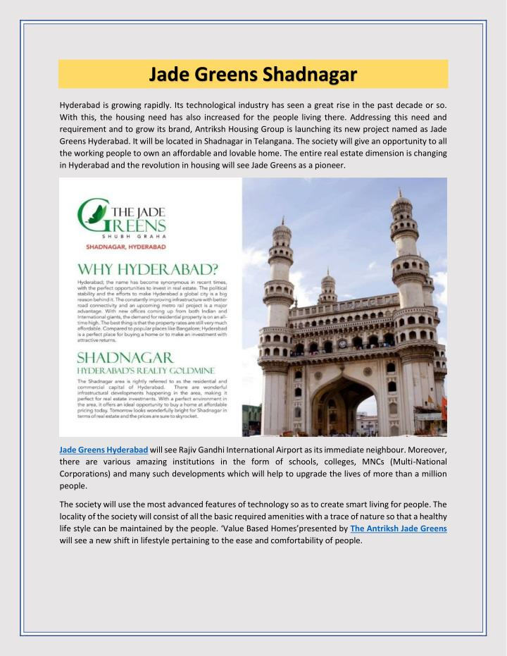 Jade Greens Shadnagar