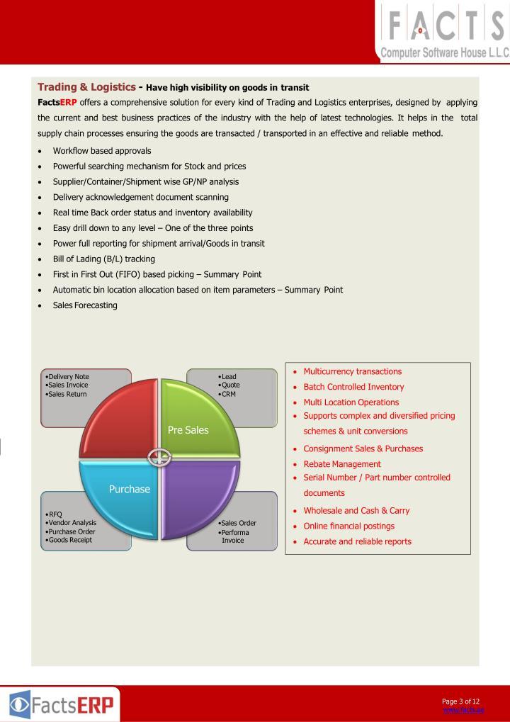 Trading & Logistics -