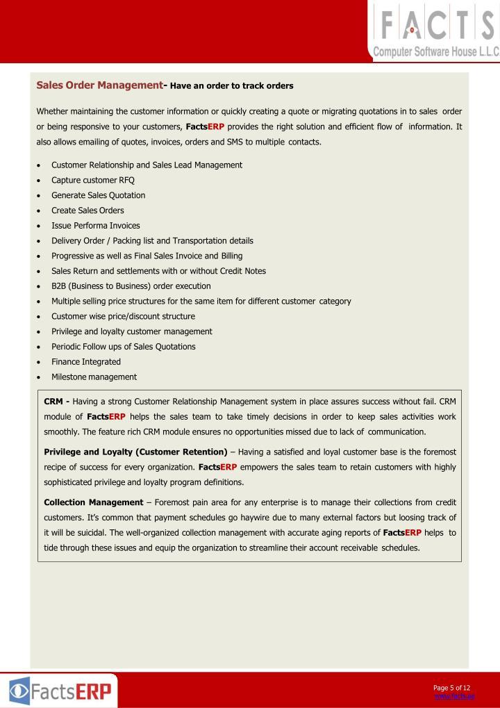 Sales Order Management-