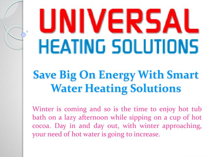 Save big on energy with smart water heating solutions
