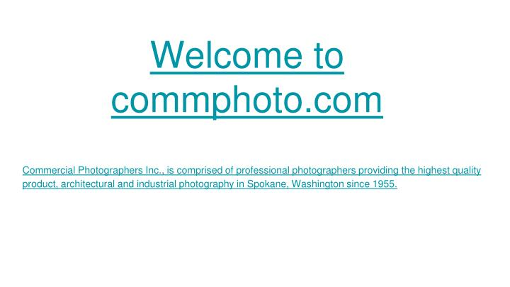 Welcome to commphoto com