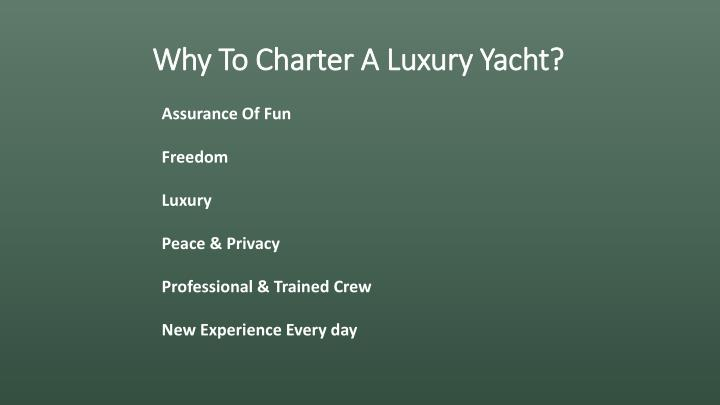 Why to charter a luxury yacht1