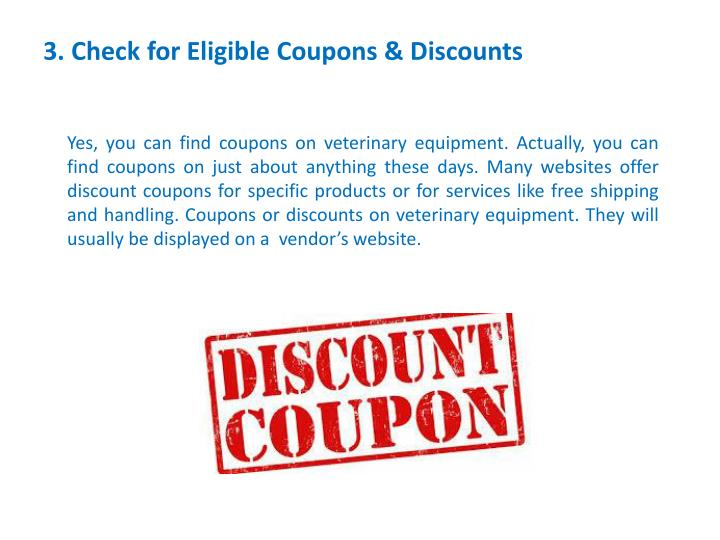 3. Check for Eligible Coupons & Discounts