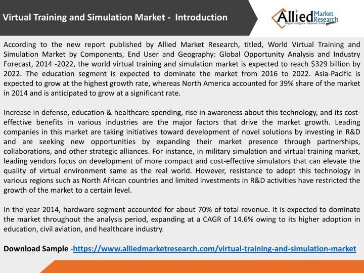 Virtual Training and Simulation Market - Introduction