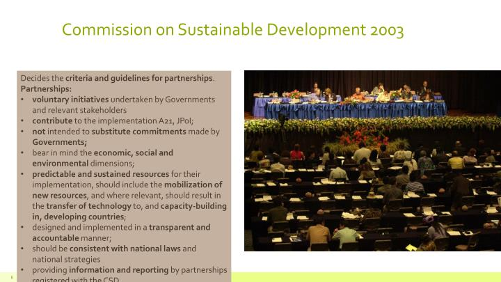 Commission on Sustainable Development 2003
