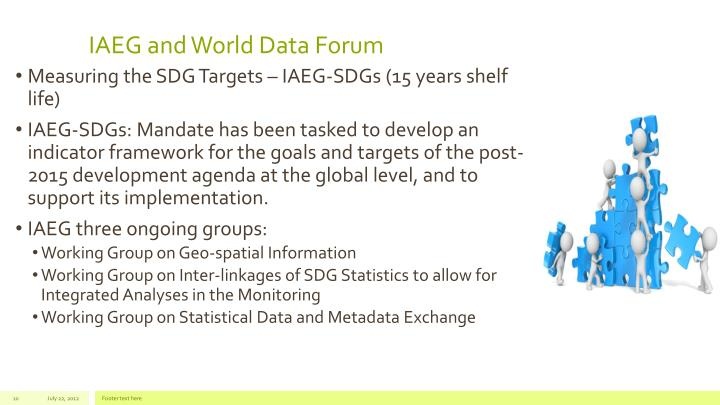 IAEG and World Data Forum