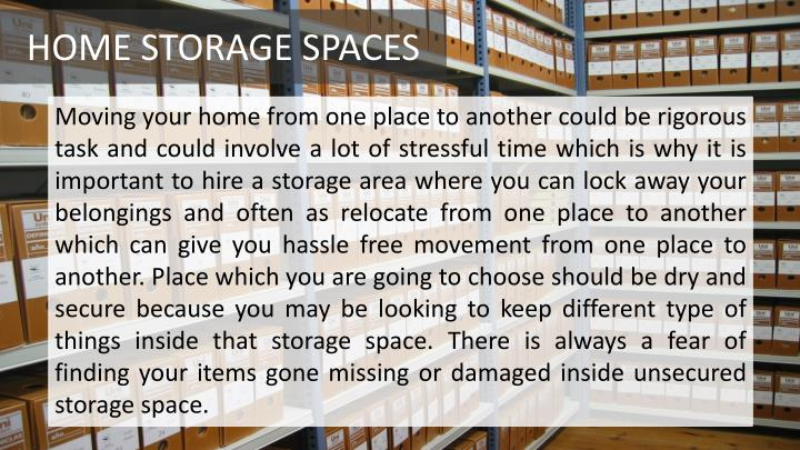 HOME STORAGE SPACES