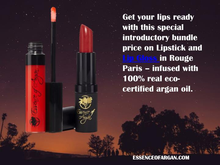 Get your lips ready with this special introductory bundle price on Lipstick and