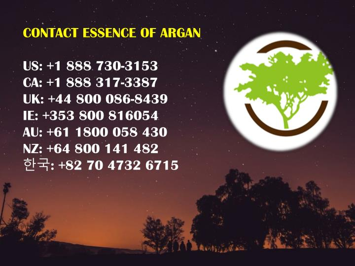 CONTACT ESSENCE OF ARGAN