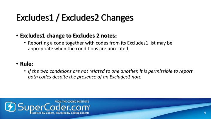 Excludes1 / Excludes2