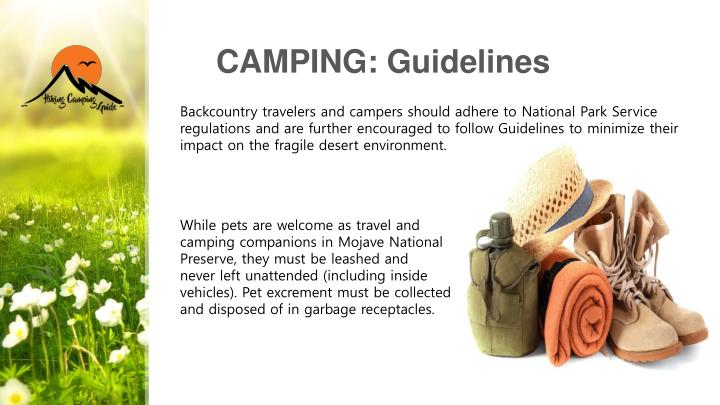 CAMPING: Guidelines