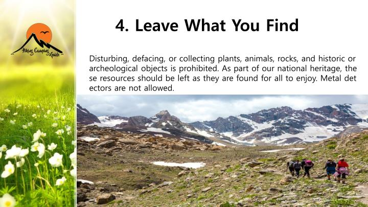 4. Leave What You Find